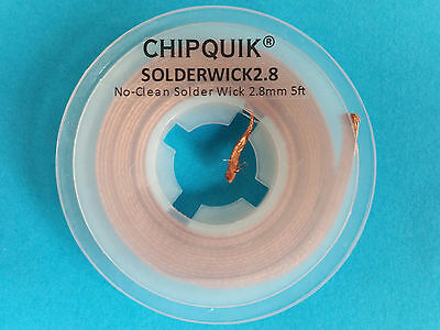 1.5 meter roll of Chip Quik pure copper De solder wick Braid 2.8mm wide