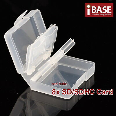 8 in 1 Memory Card Holder SD SDHC Protection Box Stick Storage Clear Case