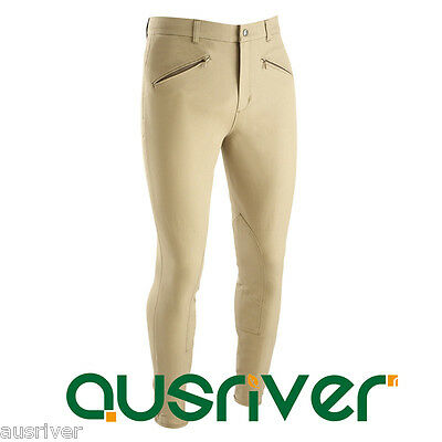 Extra Large Mens Horse Riding Pants Jodhpur Breeches Beige Cloth Seat Jods 38-46