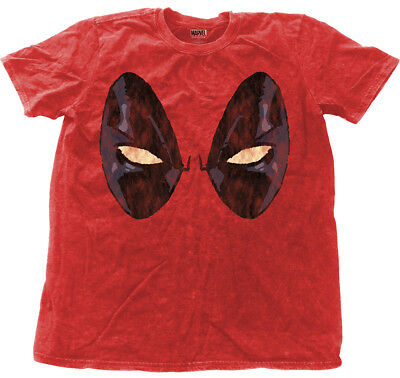 Marvel Deadpool 'Eyes' Snow Wash T-Shirt - NEW & OFFICIAL!
