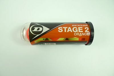 *NEU*3 DUNLOP STAGE 2 Orange Tennisbälle Methodik Bälle DTB Kinder 3er Dose new
