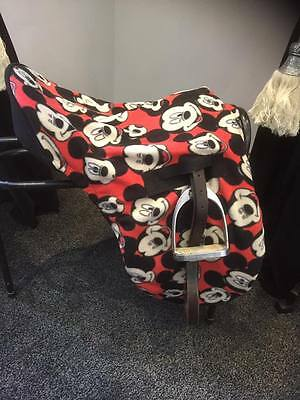 Mickey Mouse fleece saddle cover, ride on saddle cover