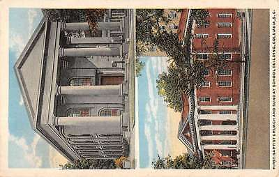 Columbia South Carolina First Baptist Church Multiview Antique Postcard K57235