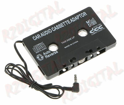 ADATTATORE AUTO per CASSETTE AUTORADIO AUDIO CASSETTA SREREO MP3 CD DVD MP4