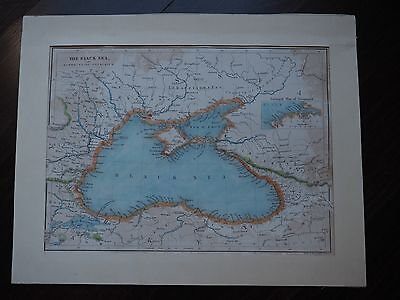 Antique original map of The Black Sea & surrounding countries c 1850