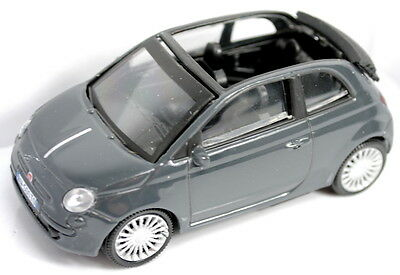 Fiat 500C Convertible Model Car 1/43 New and Genuine - Dark Grey 50906960