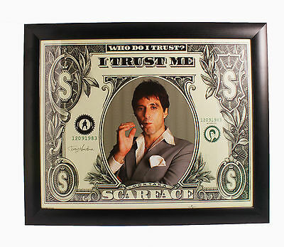 Scarface Framed Art Poster Print Al Pacino Movie 57cm x 47cm