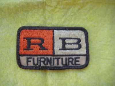 "Vintage R B Furniture Uniform Patch 3 3/8"" X 2"""