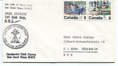 1974 Fort Good Hope Hare Express Canada Polar Antarctic Cover