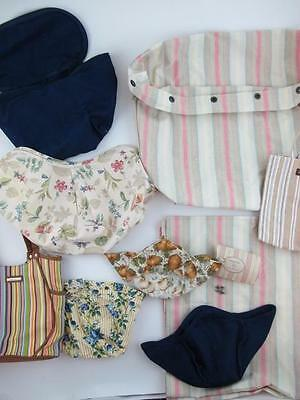 Mixed Lot of Longaberger Basket Bowl Fabric Liners Covers Big Tote Accessories