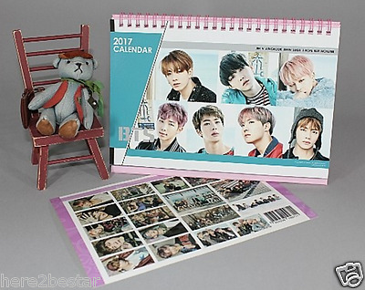 [LAST] BTS BANGTAN BOYS Calendar + BTS Sticker 2017-2018 Two year Desk Calendar