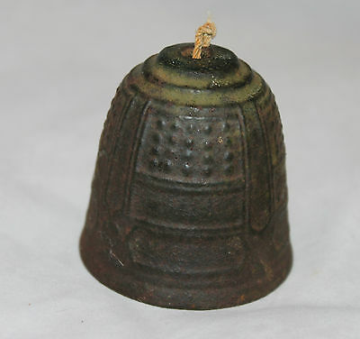 """Charming Antique Decorative Bronze 2"""" Bell Small Working Clapper"""