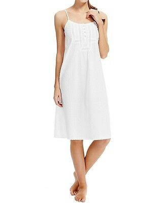 Marks And Spencer M&S White Cotton COOL COMFORT  Nighty Nightdress Chemise 8-22