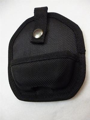 New Nylon Black Handcuff Case with Snap Close Chain or Hinged Hand Cuffs Cuff