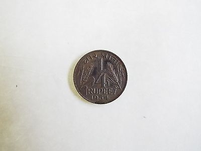 1954 1/4 Rupee Coin Government Of India .25