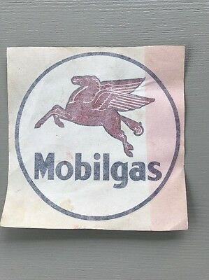 Vintage Mobilgas Winged Pegasus Sticker Decal Calon II Arlon USA