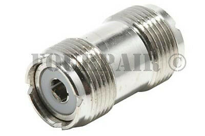 UHF SO-239 Female to Female Coupler RF Adapter Barrel Connector for PL-259 Plugs