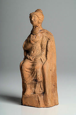 Ancient Greek Hollow Terracotta Female Figure c.3rd century BC.