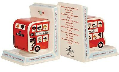 Queens By Churchill Little Rhymes 'Wheels On The Bus' BOOKENDS - New
