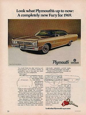 Vintage Magazine Ad - 1969 - Plymouth Sport Fury