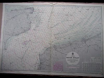 """1970 DOVER STRAIT English Channel - Admiralty Sea Map Chart 28"""" x 41"""" A89"""