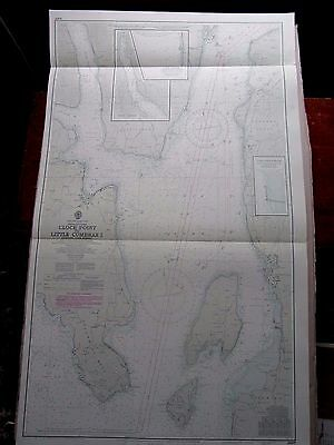 """1969 WEST SCOTLAND Firth of Clyde LOCH STRIVEN Cumbrae MAP Chart 28"""" x 46"""" A38"""