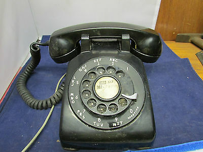 Vintage Bell Systems Western Electric #500 Black Rotary Phone