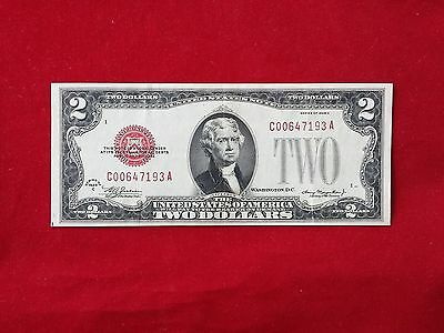 "FR-1504 1928 C Series $2 Red Seal US Legal Tender Note ""Tough C-A Block"" *VF-XF*"
