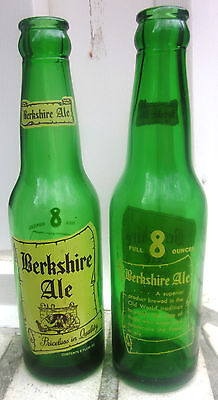 2 same 1955 Berkshire Ale 8 oz.  ACL bottles, Old Reading Brewery,Reading, Pa.