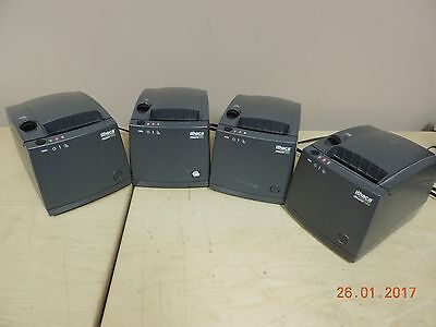 Lot x4 Ithaca iTherm 280-U PoS Thermal Printer w/Power+USB Cables - As-Is - Qty.