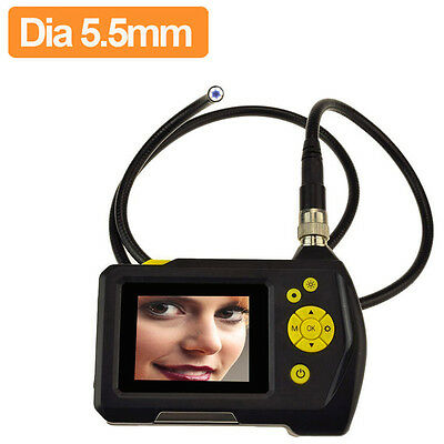 "2.7"" LCD Inspection Camera 5.5 mm Borescope Endoscope Zoom Rotate 1M Cable DVR"
