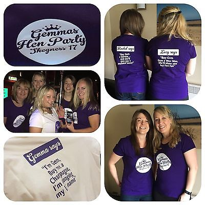 Personalised T-shirt Custom Photo Your Image Printed Stag Hen Party Promotional