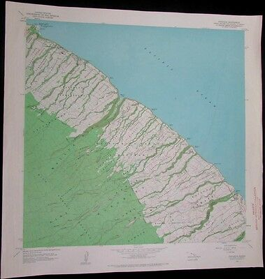 Papaaloa Hawaii Honohina Waikaumalo Maulua Homesteads 1968 old USGS Topo chart