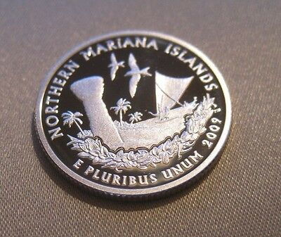 2009 S Cameo Proof Silver Northern Mariana Islands Quarter // 90% Silver // 110