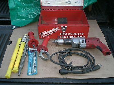 "Milwaukee Heavy Duty Magnum 1/2"" Corded Hammer Drill model 5370-1"