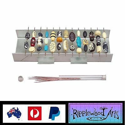 AMACO BEAD BAKING RACK FOR POLYMER CLAY BEADS + 20 metal piercing pins