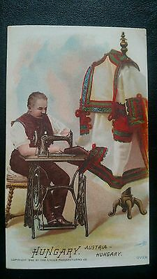 Antique Victorian Trade Card: The Singer Manufacturing Co. - Hungary