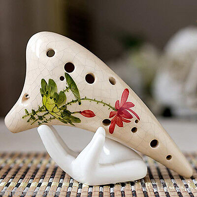 Ceramic Base of Hand Holder for 6 Holes /12 Holes Ocarina Flute Musical Instrume