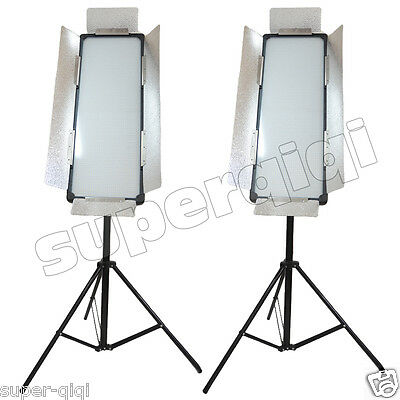 2014Upgrade 2Pcs 3100 LED Video Photography Studio Light Dimmable Color High CRI