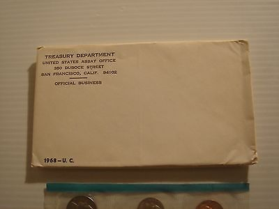 1968 United States Mint Set Uncirculated  P & D  Kennedy Half 40% Silver