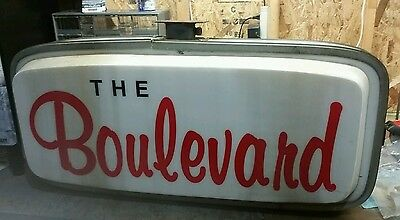 """Vintage Drive In Sign Lighted """"The Boulevard"""" Double Sided"""