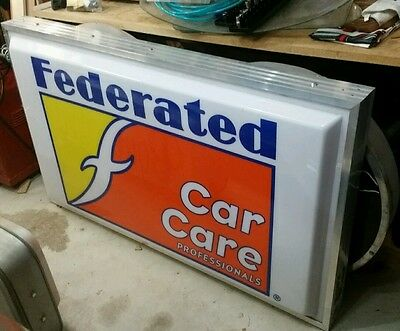 Dualite Sign Federated Car Care Single Sided Lighted