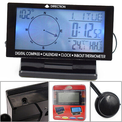 Electronic Compass Guiding Clock Thermometer Calendar Gauge Multi-Functional