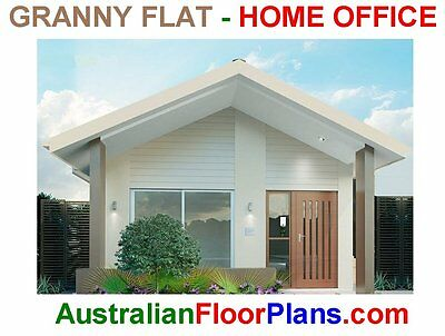 2 Bedroom backyard cottage/granny flat- New Contruction House Plans-Kit Homes