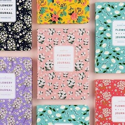 [PREMIUM FLOWERY WEEKLY JOURNAL S UNDATED] Daily Monthly Yearly Planner Note