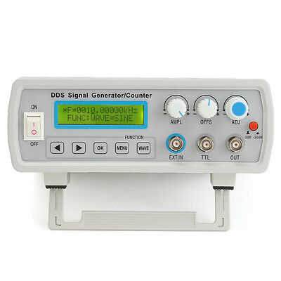 2MHz Dual Channel DDS Function Signal Generator Sine Square Wave Sweep Counter