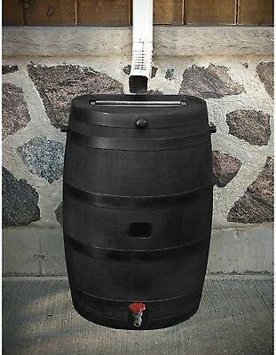 50 Gallon Rain Barrel Water Collection Garden Outside Outdoor Patio Yard