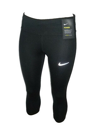 Leggings Nike Running Corsa Donna Essential Tight Capri Length Nero Tg Xs