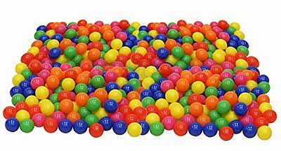 200 Crush Proof Plastic Ball Pit Balls for Inflatable Bouncers