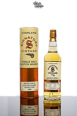 Signatory Vintage Glenallachie 1996 Aged 19 Years Speyside Single Malt Scotch Wh